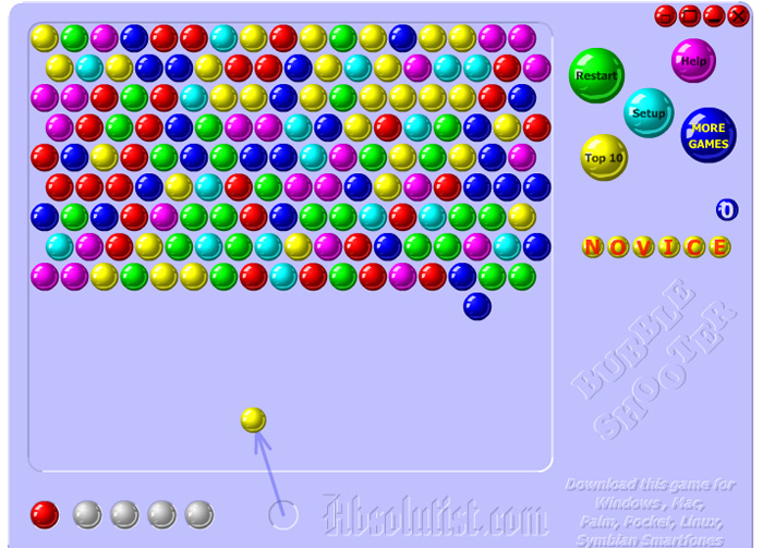 how to play bubble shooter